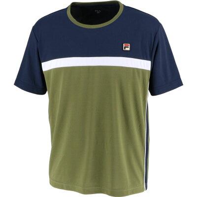 FILA フィラ ゲームシャツ メンズ VM5433 カーキ L