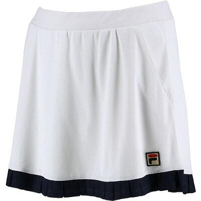 フィラ FILA レディース テニスウェア スコート ホワイト VL2139 01