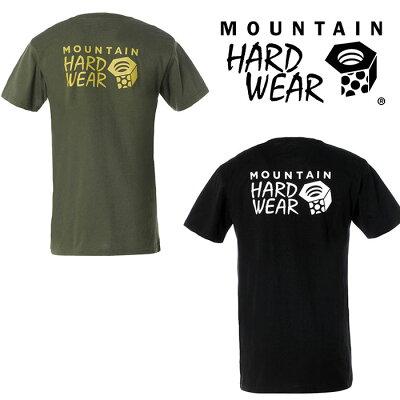 MOUNTAIN HARDWEAR マウンテンハードウェア トレッキング アウトドア 半袖Tシャツ ハードウェアロゴショートスリーブT メンズ BLACK OM7704 010