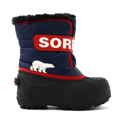 SOREL ソレル Childrens Snow Commander チルドレンユース コマンダー 12/17.0cm 591 Nocturnal×Sail Red NC1960