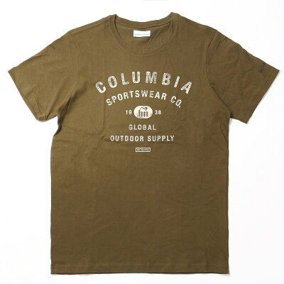 Columbia コロンビア Path Lake Graphic T-Shirt パス レイ クグラフィック Tシャツ Men's M 327 New Olive CSC Badge AE0402