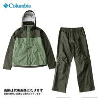 レインウェアコロンビア:シンプソンサンクチュアリレインスーツ PM0124 Mサイズ #347:サープラスグリーン