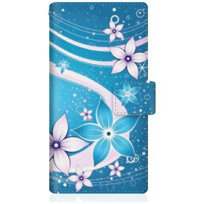 CaseMarket iPhoneX スリム手帳型ケース 夏華の乱舞 和柄 ボタニカル iPhoneX-BCM2S2479-78 蒼花と水流を望む夜