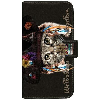 CaseMarket NYAGO iPhoneX 厚手手帳型ケース パイレーツ ソラちゃん 肉球をペロペロするにゃー。 かわいい猫フェイス手帳 iPhoneX-BNG2S7074-88 ブラック