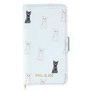 マークス iPhoneXR ポール&ジョー ブックケース/チェスキャット・ブルー