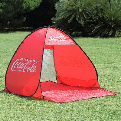 コカコーラ ワンタッチテント 簡易テント レジャー用 アウトドア用 サンシェード ビーチテント キャンプ用 日よけ
