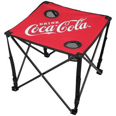 コカコーラ コンパクトテーブル レッド アウトドア用 折り畳みテーブル