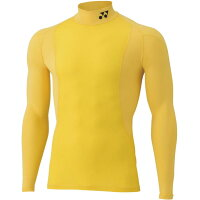 YONEX STBF1013/004 ヨネックス ユニハイネックナガソデシャツ カラー:イエロー サイズ:O