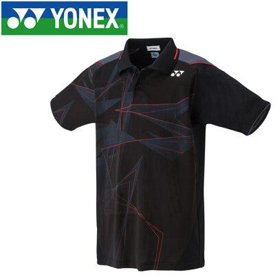 ヨネックス YONEX メンズ レディース テニス ゲームシャツ ブラック 10272 007