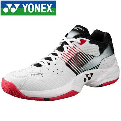 ヨネックス YONEX メンズ レディース テニスシューズ パワークッションワイド135 ホワイト/レッド SHT-135W 114