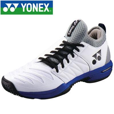 パワークッション フュージョンレブ3 メン GC テニスシューズ サイズ:22.0cm カラー:ホワイト×オーシャンブルー #SHTF3MGC-725