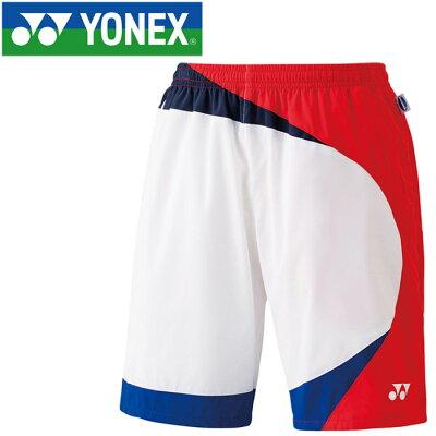 ヨネックス YONEX メンズ レディース テニスウェア ハーフパンツ ホワイト 15082 011
