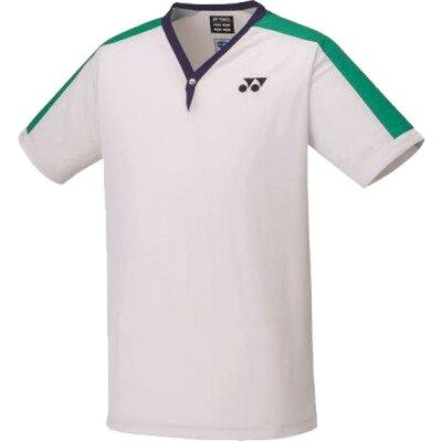 YONEX/ヨネックス 75TH ゲームシャツ フィットスタイル Sサイズ メンズ ホワイト 10435A-011
