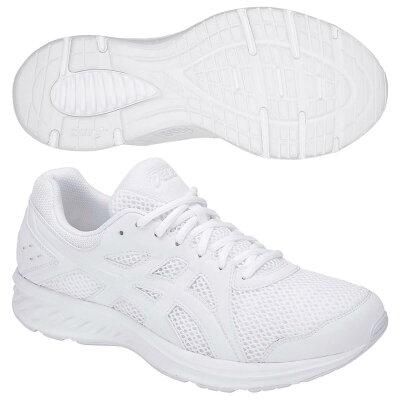 アシックス asics ランニング jolt 2 1011a206 white/white silver