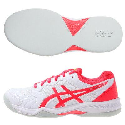 アシックス ASICS テニス GEL-DEDICATE 6 INDOOR 1042A074 ホワイト レーザーピンク 23.0cm
