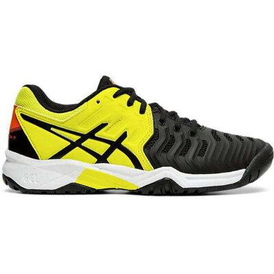 アシックス ASICS テニス GEL-RESOLUTION 7 GS TLL788 BLACK/SOUR YUZU 23.0cm