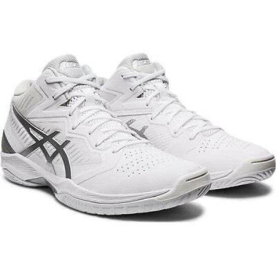 ゲルフープ V12 バスケットボールシューズ サイズ:23.0cm カラー:ホワイト×ピュアシルバー #1063A021-101