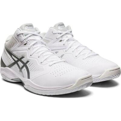 ゲルフープ V12 ワイド バスケットボールシューズ サイズ:24.0cm カラー:ホワイト×ピュアシルバー #1063A020-101