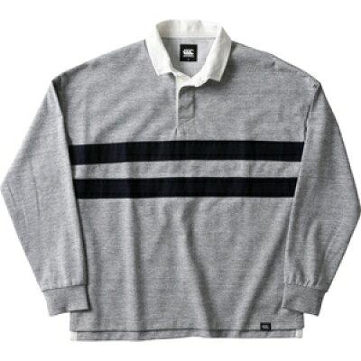 CCC-RA4956215-M カンタベリー ドライミックスラガーシャツ ミディアムグレー・サイズ:M CANTERBURY L/S DRYMIX RUGGER SHIRT