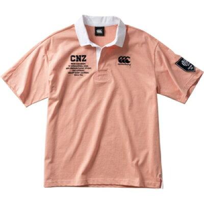 CCC-RA3007367-L カンタベリー メンズ ショートスリーブ ラガーシャツ ストロベリー・サイズ:L CANTERBURY S/S RUGGER SHIRT