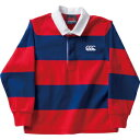 CCC-RAJ4013565-140 カンタベリー キッズ ロングスリーブ ラグビージャージ リバーブルー・サイズ:140cm CANTERBURY L/S RUGBY JERSEY