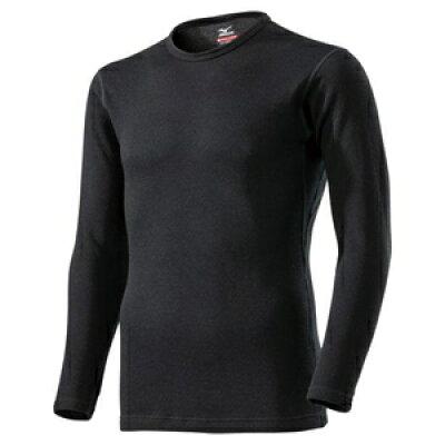C2JA961409LM ミズノ メンズ ブレスサーモアンダーウエアEXプラスクルーネック長袖シャツ ブラック・サイズ:LM MIZUNO