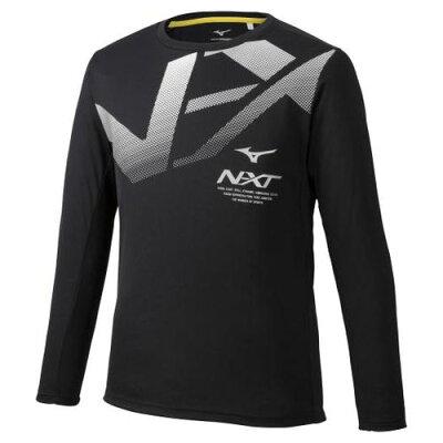 32JA974009M ミズノ ユニセックス N-XT Tシャツ 長袖 ブラック・サイズ:M MIZUNO 32JA9740