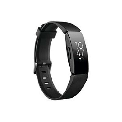 Fitbit フィットビット Inspire HR インスパイアHR フィットネス トラッカー ウェアラブル端末 腕時計 L/Sサイズ ブラック FB413BK