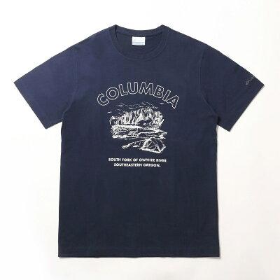 Columbia コロンビア ヤハラ フォレスト ショートス リーブ Tシャツ Men's S 465 PM1897