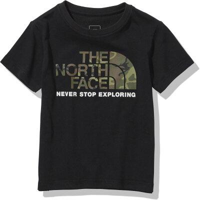 THE NORTH FACE ザ・ノースフェイス S/S CAMO LOGO TEE ショート スリーブ カモ ロゴ ティー キッズ 100 ブラック K NTJ32145