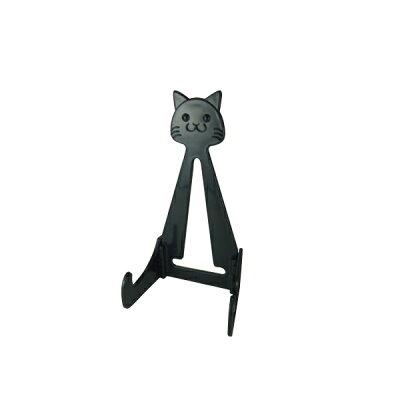 エポックケミカル 皿立て RAKU YAKI buddies 猫の皿立て ブラック RMCSBK-350