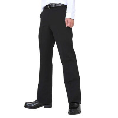 HIGH-SPEC 日本製標準型ポリ100%学生ズボン(ノータック) ブラック (T4589ZRA-W70)