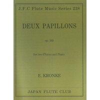 楽譜 クロンケ 二匹の蝶 OP.165 フルートクラブ名曲シリーズ 238