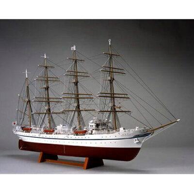 1/160 木製帆船模型 日本丸 帆なし 停泊 ウッディジョー UD ニホンマル ホナシ