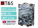 T&S ティーアンドエス WORLD TRUNK CASE 7301 ROYAL ファイバートランクケース 50cm カモフラージュグレイ 7301-50