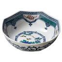 九谷焼 染付宝紋花鳥7号鉢 和食器