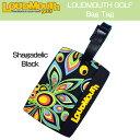 """Loudmouth """"Shagadelic Black"""" Bag Tag/IC Card Case ラウドマウス シャガデリック ブラック バッグタグ/ICカードケース LM-BT0001"""