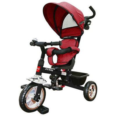 3in1 Tricycle  ディープレッド JTC 三輪車 手押し棒