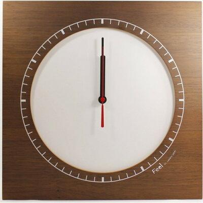フィール コーナークロック 木製掛け&置き時計 W ホワイト YK13-003-Wh(1コ入)
