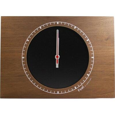 フィール コーナークロック 木製掛け&置き時計 S ブラック YK13-004-Bk(1コ入)