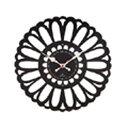 ぼたん 掛け時計 ブラック YK13-101 Bk(1コ入)