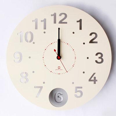 ヤマト工芸 振り子時計 circle clock YK14-105-Wh ホワイト