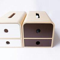 ヤマト工芸 ティッシュケース STOCK tissue-マスク・小物ストッカー YK14-108-Wh ホワイト
