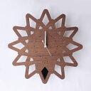 ヤマト工芸 掛時計 pattern clock S-トゲ- YK14-113-Bk ブラック