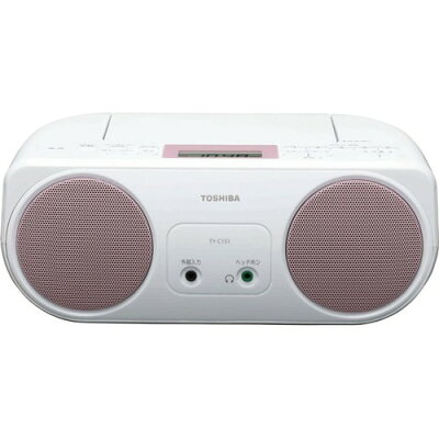 TOSHIBA CDラジオ ワイドFM対応 TY-C151(P)
