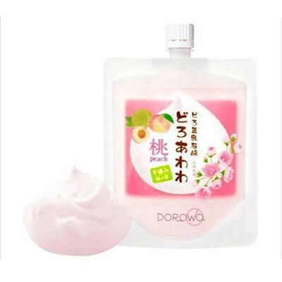 どろ豆乳石鹸 どろあわわ 桃   ネット付き ピーチ peach 洗顔石鹸