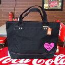 COCA-COLA BRAND コカコーラブランド rPET キャンバストートバッグ Heart Black
