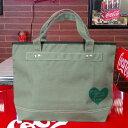COCA-COLA BRAND コカコーラブランド rPET キャンバストートバッグ Heart Green