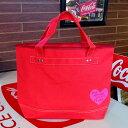 COCA-COLA BRAND コカコーラブランド rPET キャンバストートバッグ Heart Red
