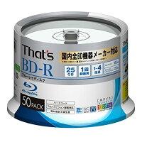 START Lab/スタート・ラボ BD-R 1回録画 デジタル放送用 地デジ180分 25GB 1-4倍速対応 50枚 BRVMG25WWR50BC